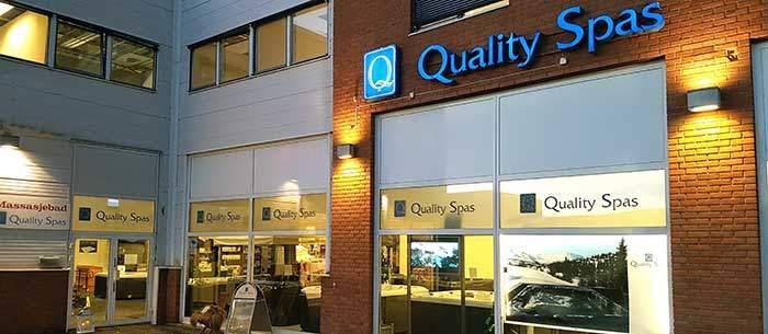 Fasaden til Quality Spas på Lørenskog