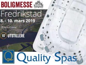 Boligmessen i Fredrikstad 8-10. mars 2019 med Massasjebad og Motstrømsbasseng