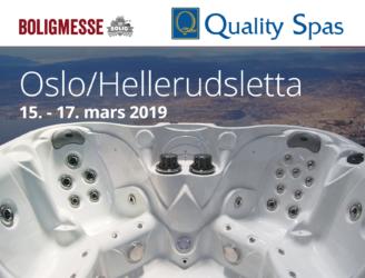 Boligmessen på Hellerudsletta i Oslo 15-17. mars 2019 med Massasjebad og Motstrømsbasseng