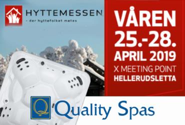 Massasjebad på Hyttemessen på Hellerudsletta 25.-28. april