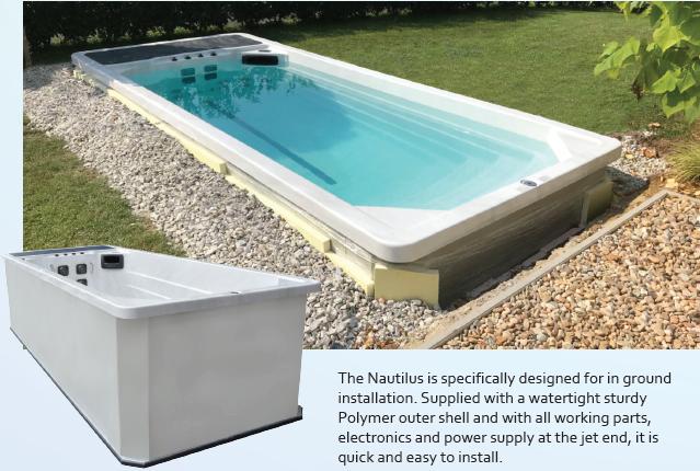 Riptide Nautilus motstrømsbasseng fra Quality Spas - Installasjon ute