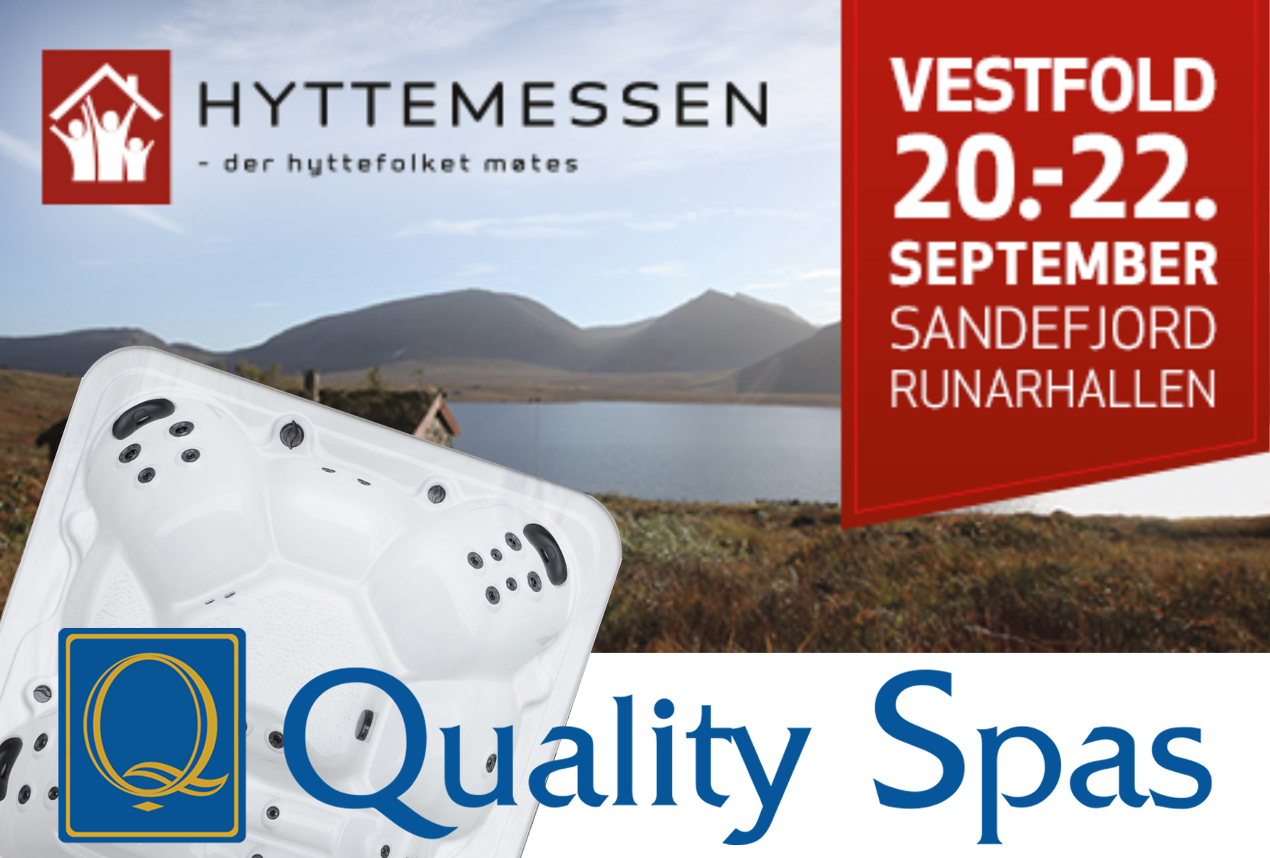 Massasjebad fra Quality Spas på Hyttemessen Sandefjord 20-22 april 2019