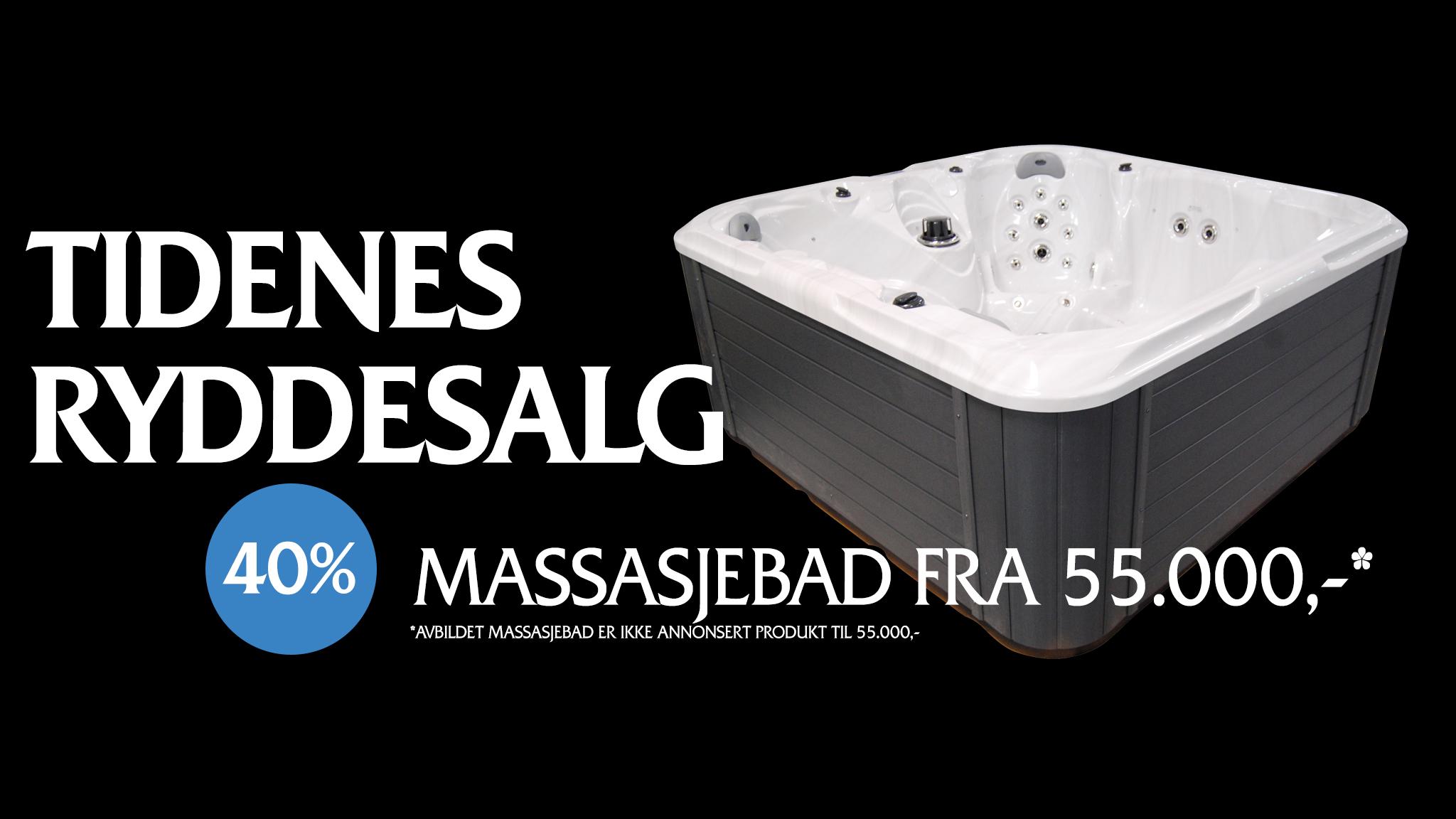 Lagersalg på Massasjebad november 2019 hos Quality Spas