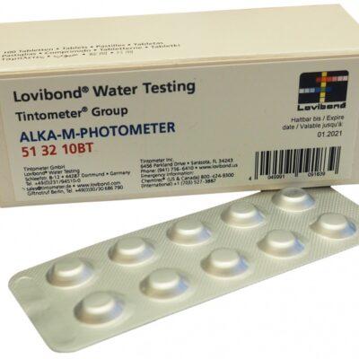 Test tabletter Alka-M Photometer brett á 10 tabletter for Massasjebad og Motstromsbasseng - Quality Spas
