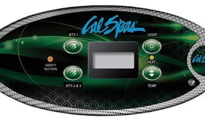Kontroll panel CAL407 T Grønn/Blå